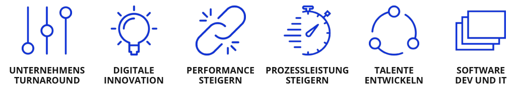 Unsere Stärken und Kompetenzen, 6 icons