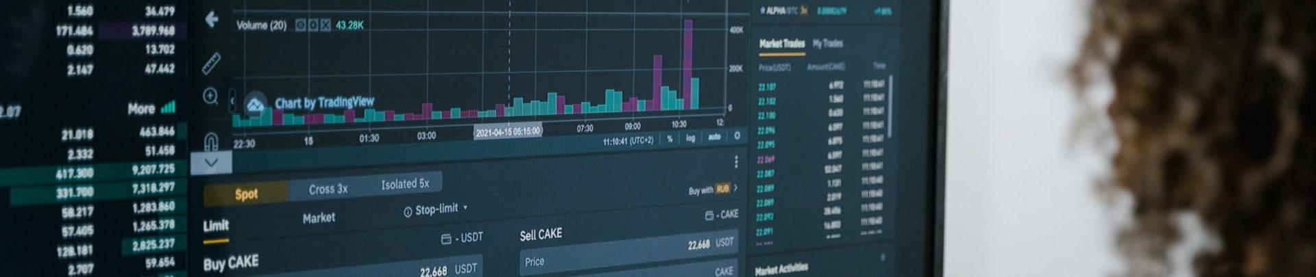 Börsenkurs auf einem Display